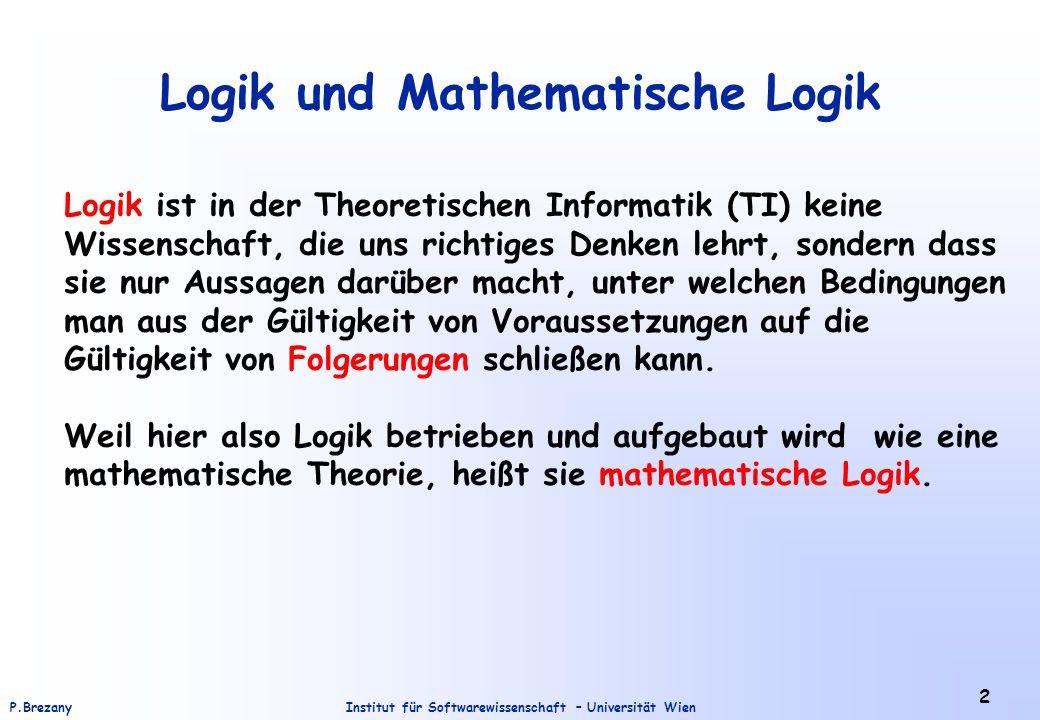 Logik und Mathematische Logik