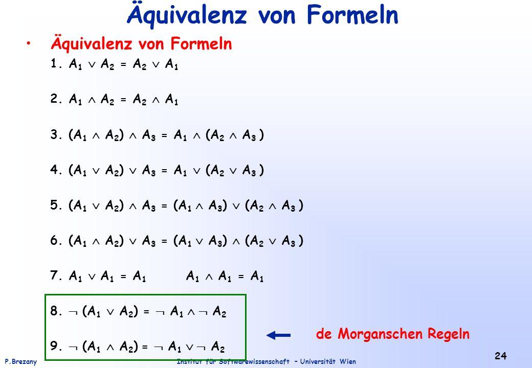 Äquivalenz von Formeln