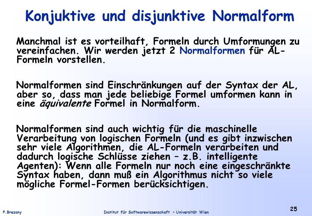 Konjuktive und disjunktive Normalform