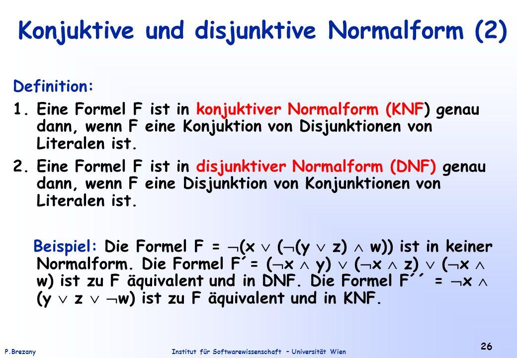 Konjuktive und disjunktive Normalform (2)
