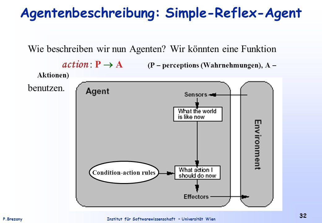 Agentenbeschreibung: Simple-Reflex-Agent