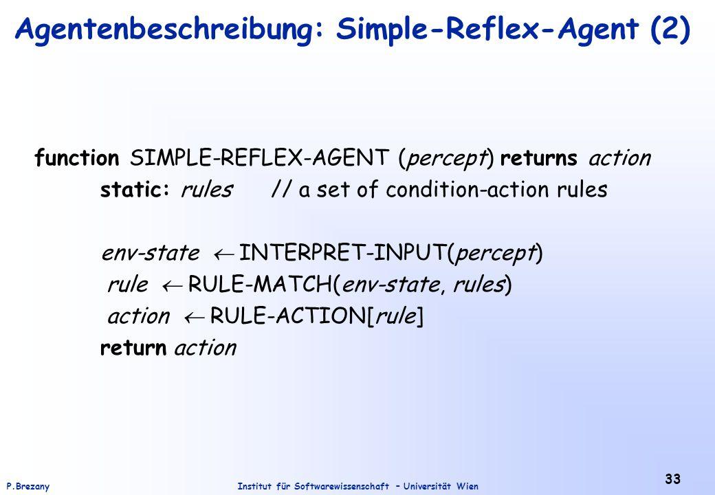 Agentenbeschreibung: Simple-Reflex-Agent (2)