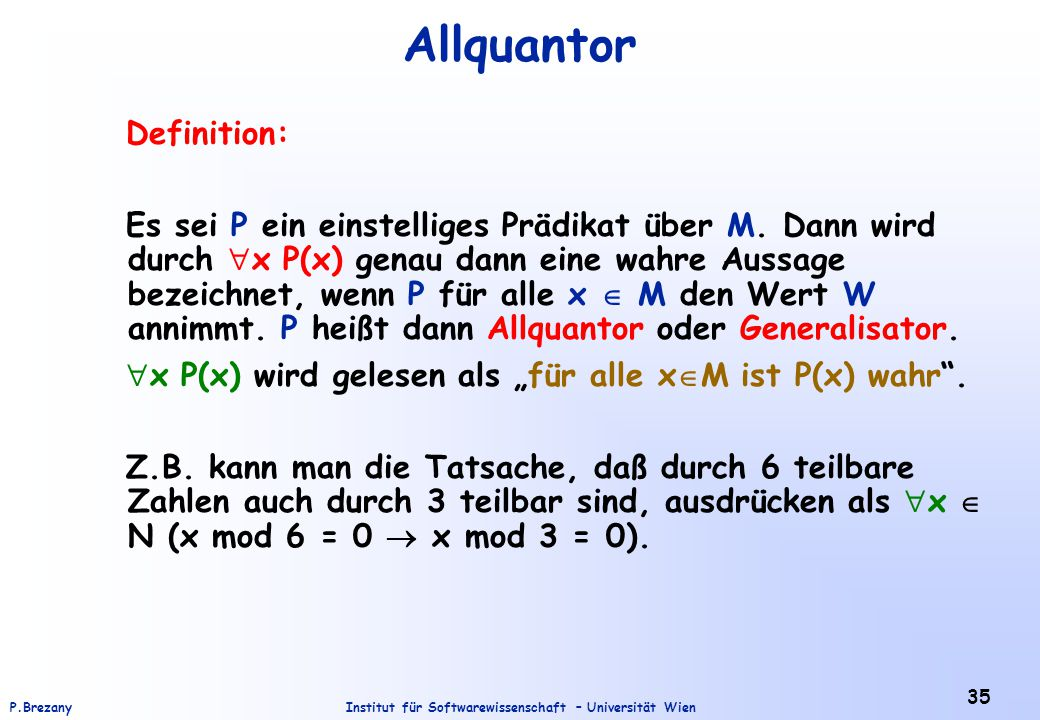 Allquantor Definition: