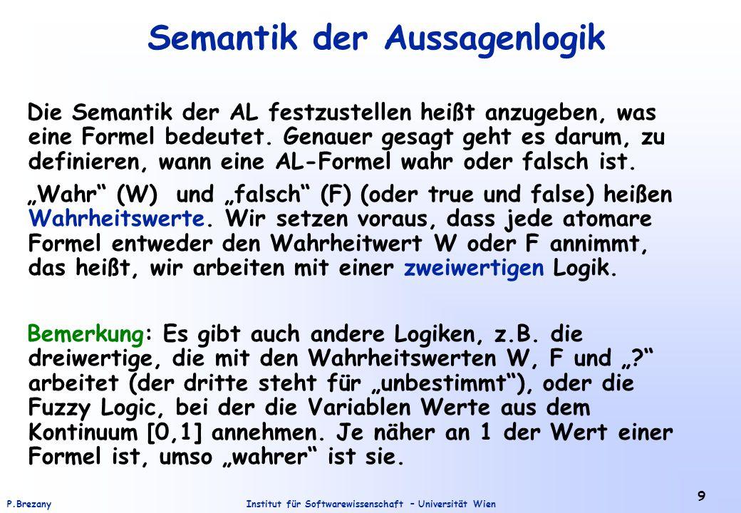 Semantik der Aussagenlogik