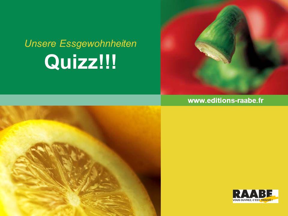 Unsere Essgewohnheiten Quizz!!!