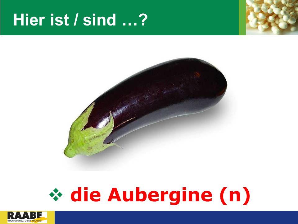 Hier ist / sind … die Aubergine (n)
