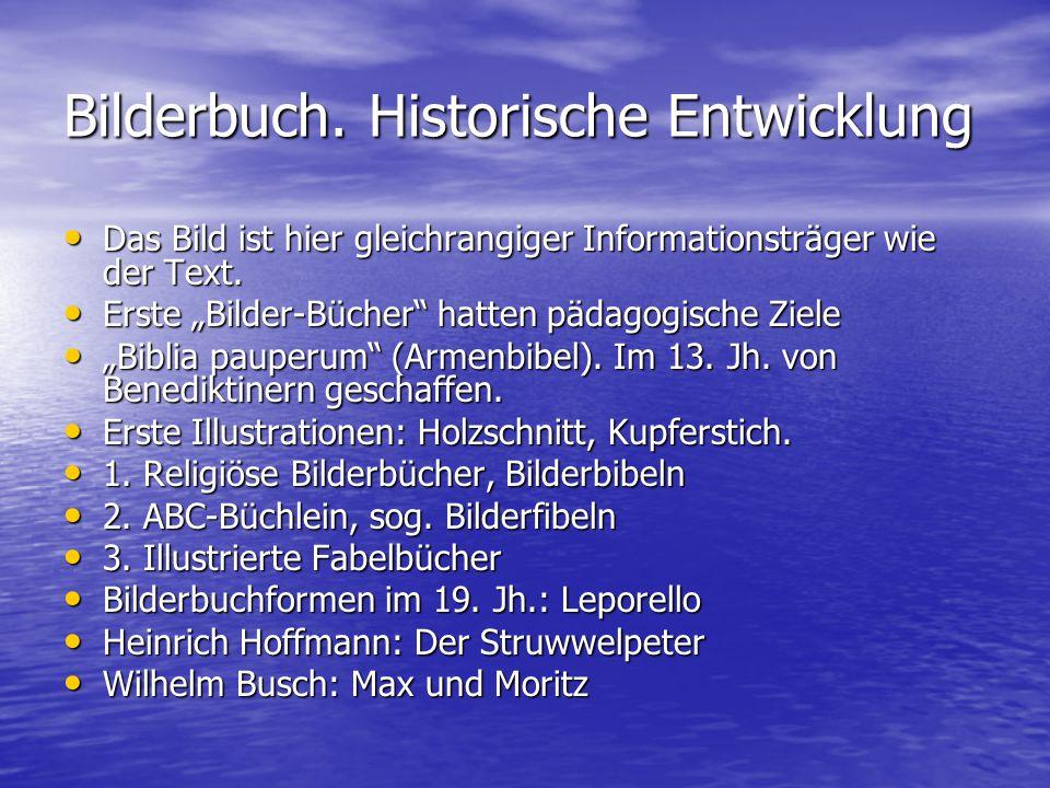 Bilderbuch. Historische Entwicklung