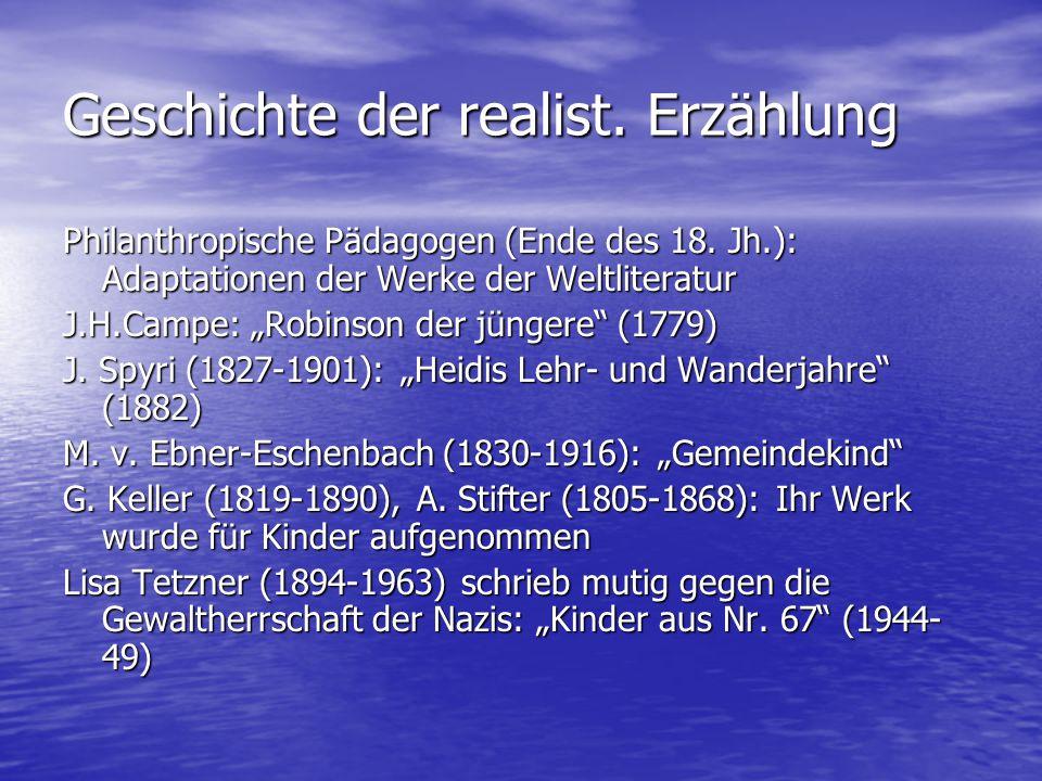 Geschichte der realist. Erzählung