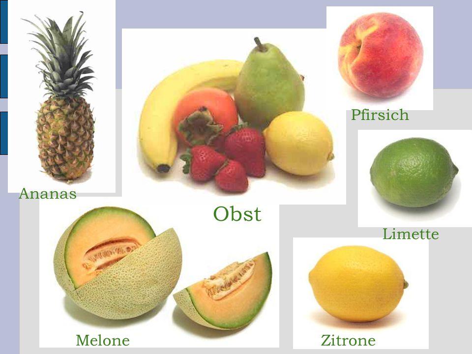 Pfirsich Ananas Obst Limette Melone Zitrone 24