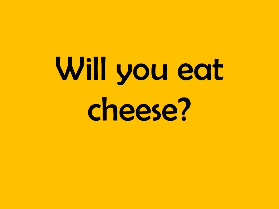 Will you eat cheese