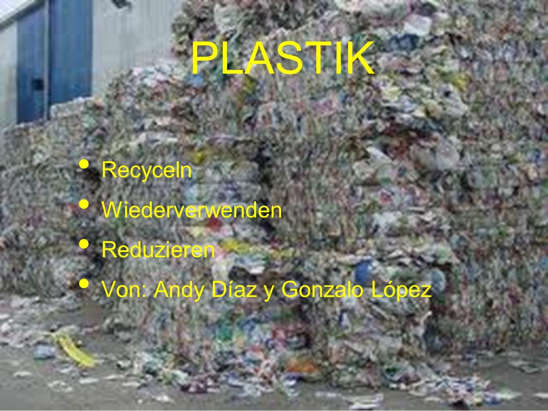 PLASTIK Recyceln Wiederverwenden Reduzieren
