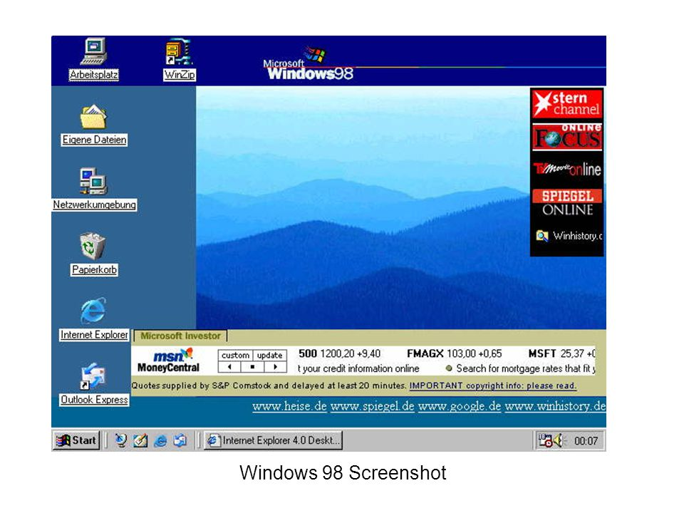 Windows 98 Screenshot