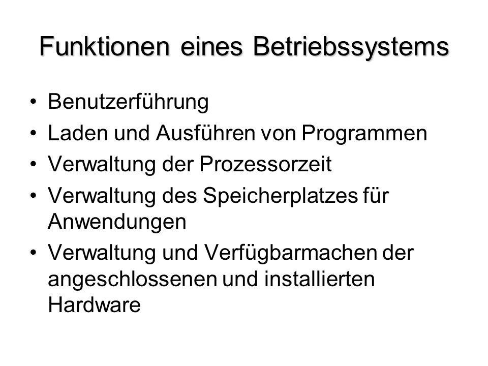 Funktionen eines Betriebssystems
