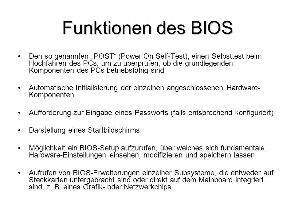 Funktionen des BIOS