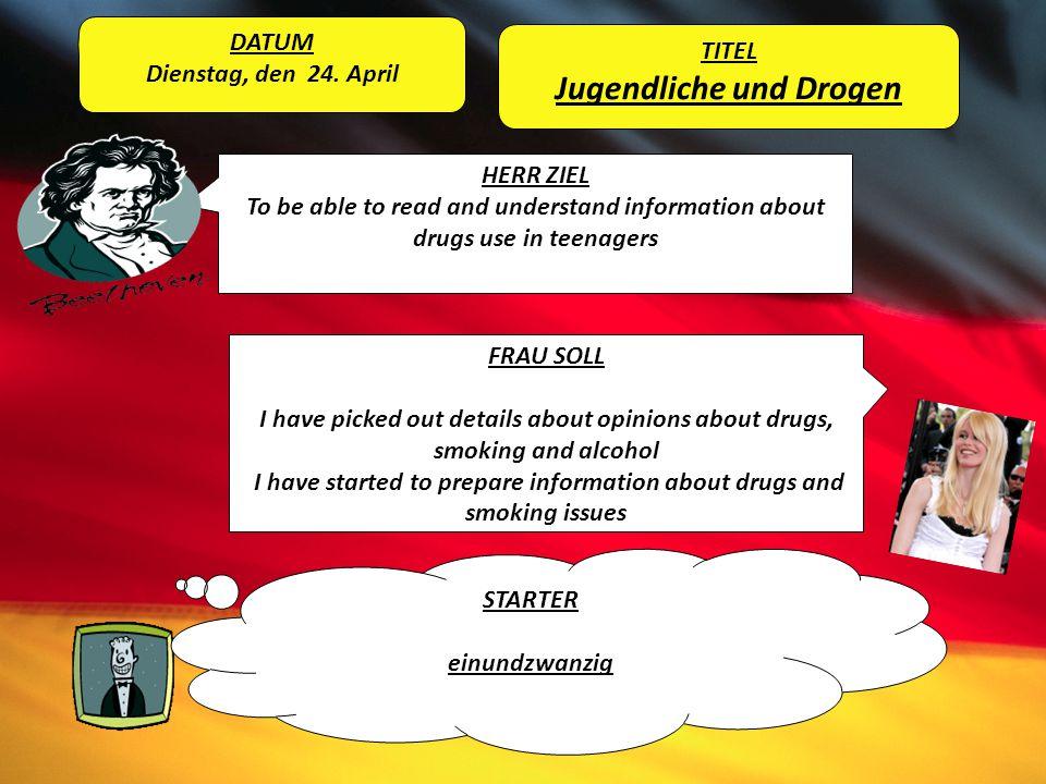 Jugendliche und Drogen