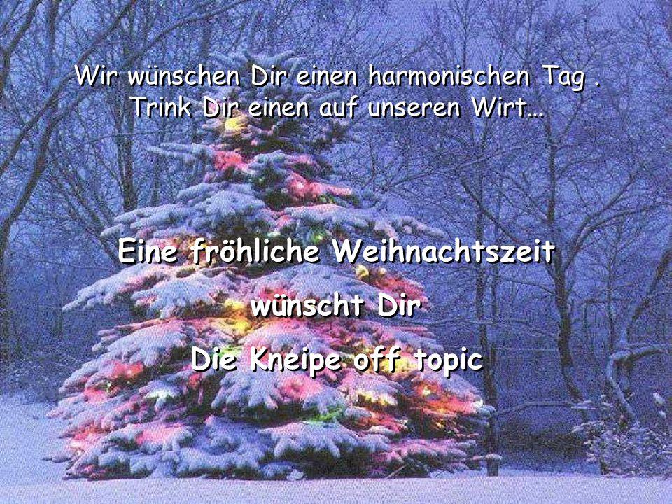 Eine fröhliche Weihnachtszeit