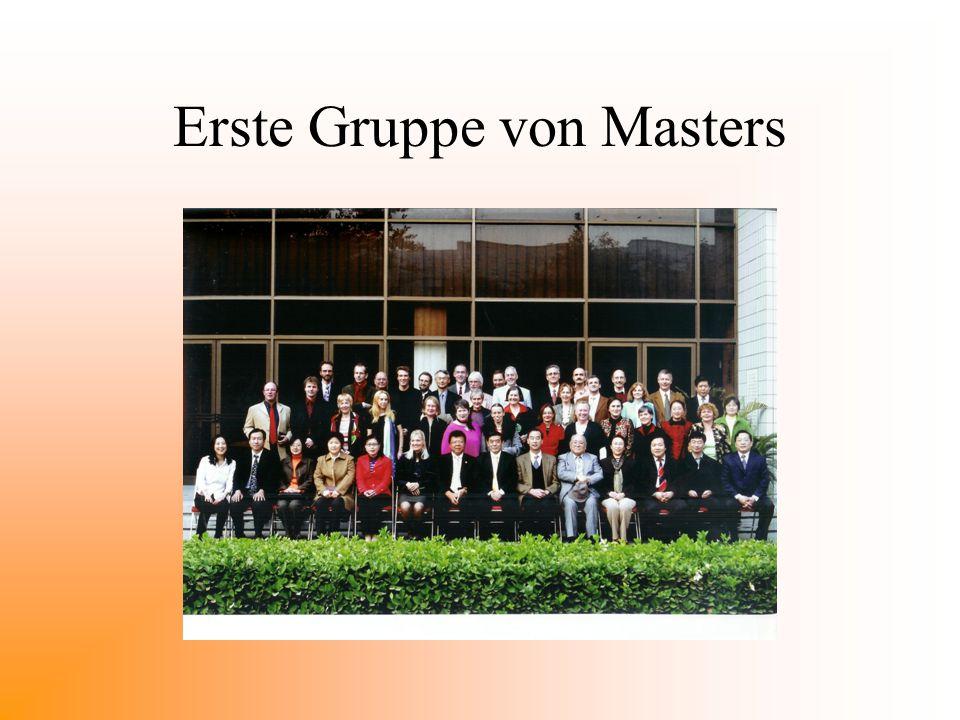 Erste Gruppe von Masters