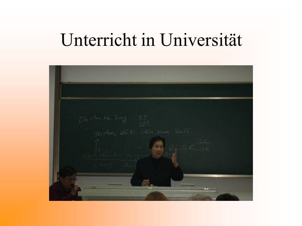 Unterricht in Universität