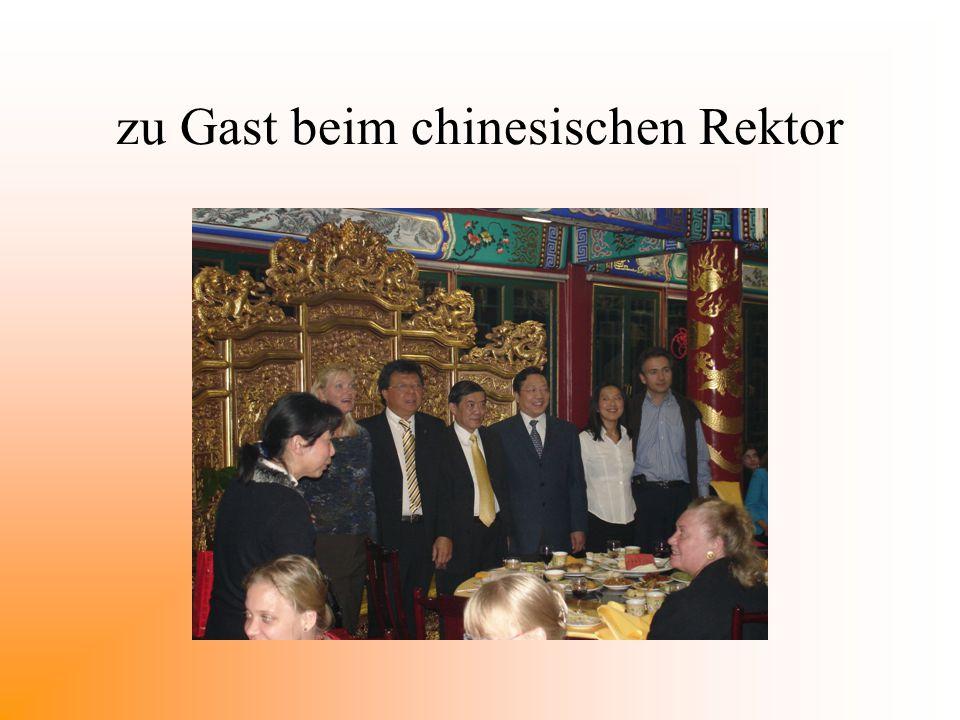 zu Gast beim chinesischen Rektor