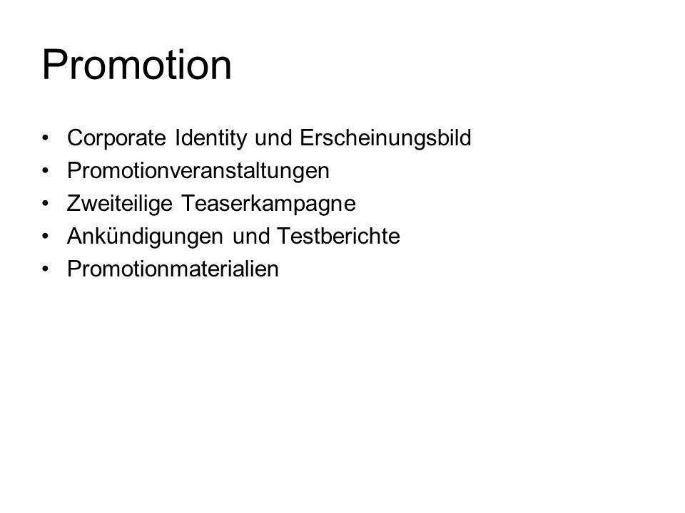 Promotion Corporate Identity und Erscheinungsbild