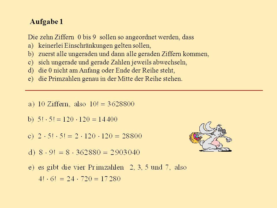 kombinatorik klasse 1