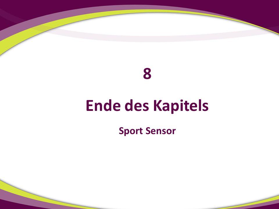 8 Ende des Kapitels Sport Sensor