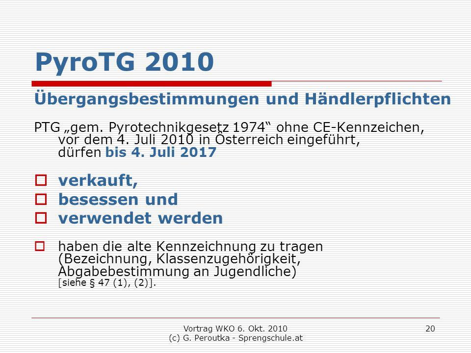 Vortrag WKO 6. Okt. 2010 (c) G. Peroutka - Sprengschule.at