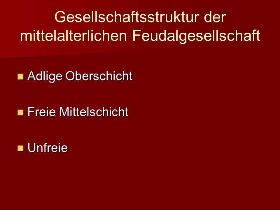 Gesellschaftsstruktur der mittelalterlichen Feudalgesellschaft