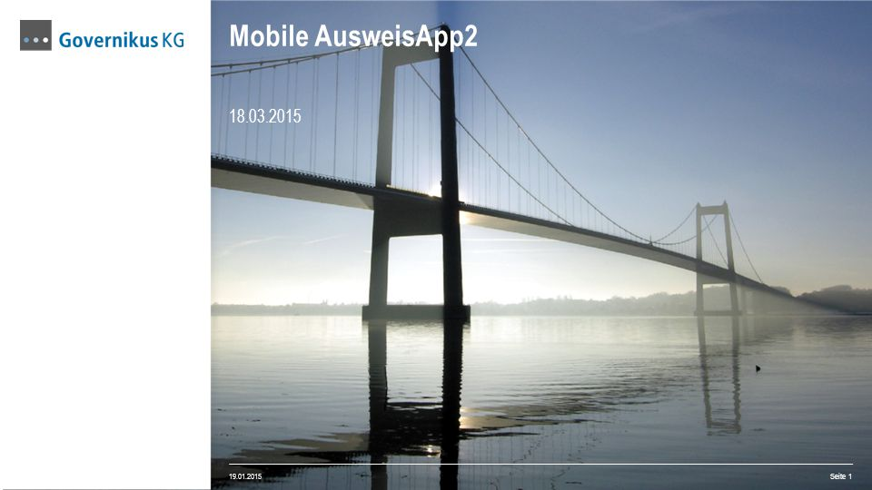Mobile AusweisApp2 18.03.2015 19.01.2015
