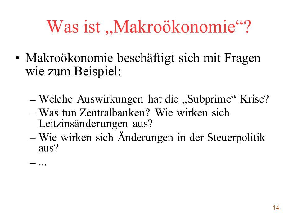 """Was ist """"Makroökonomie"""