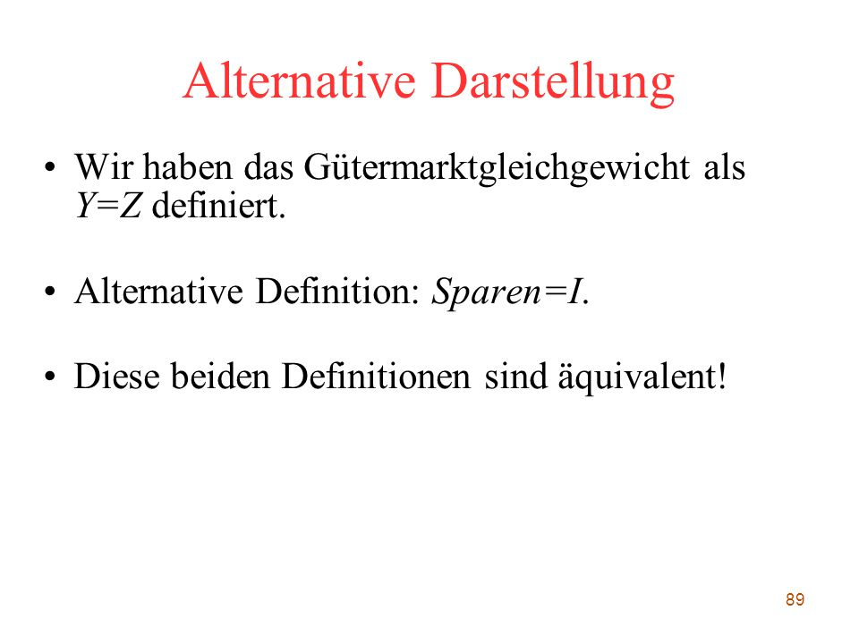 Alternative Darstellung