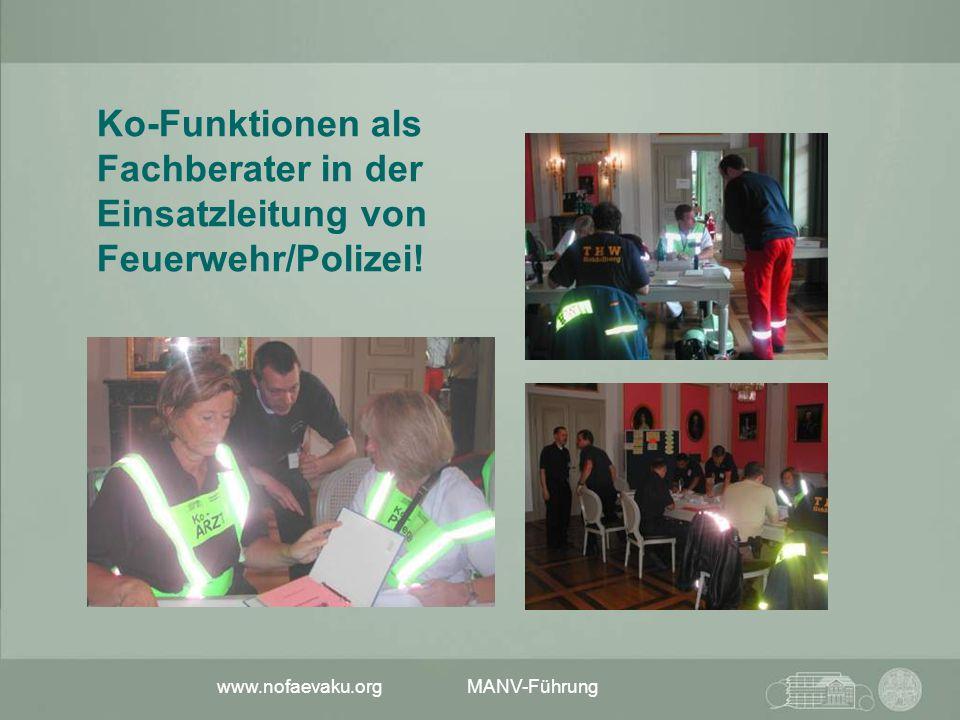 Ko-Funktionen als Fachberater in der Einsatzleitung von Feuerwehr/Polizei!