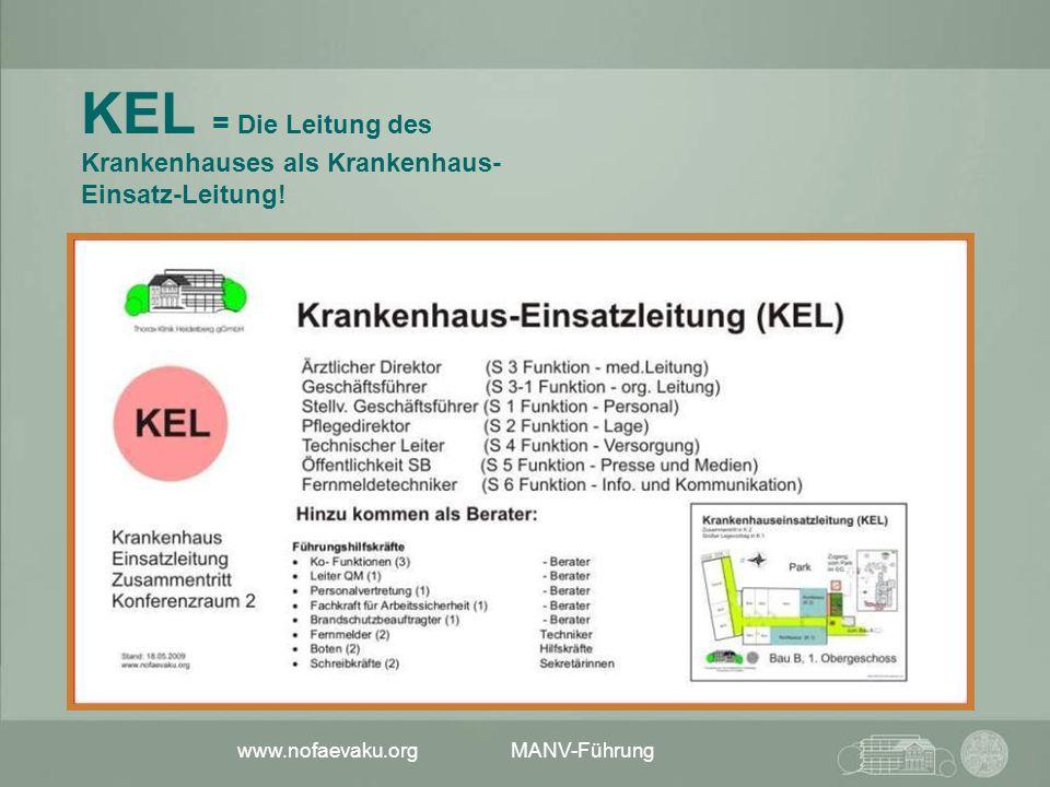 KEL = Die Leitung des Krankenhauses als Krankenhaus-Einsatz-Leitung!