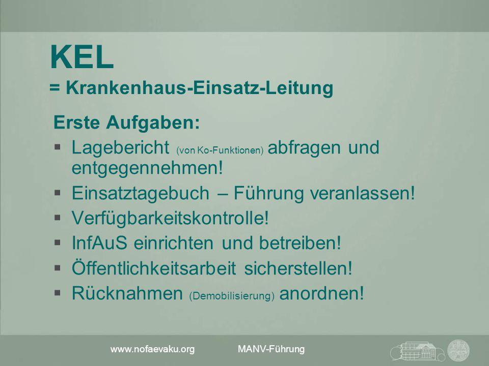 KEL = Krankenhaus-Einsatz-Leitung