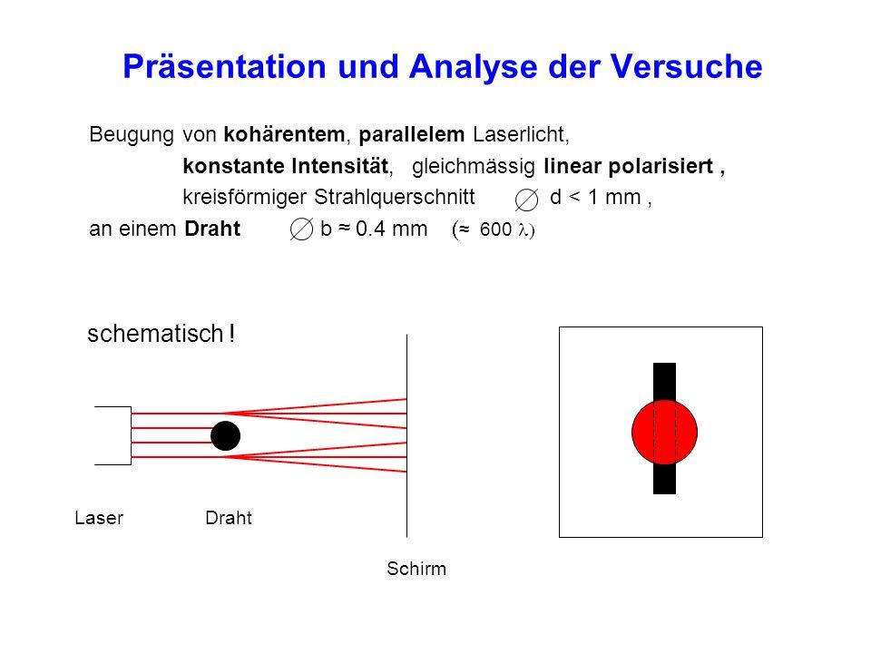 Präsentation und Analyse der Versuche