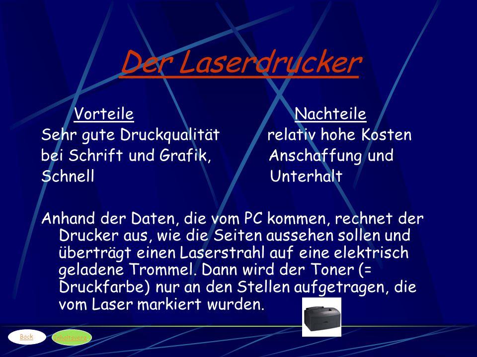 Der Laserdrucker Vorteile Nachteile