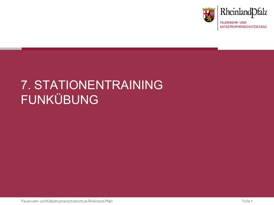 7. Stationentraining Funkübung
