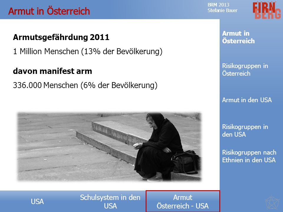 Armut in Österreich Armutsgefährdung 2011