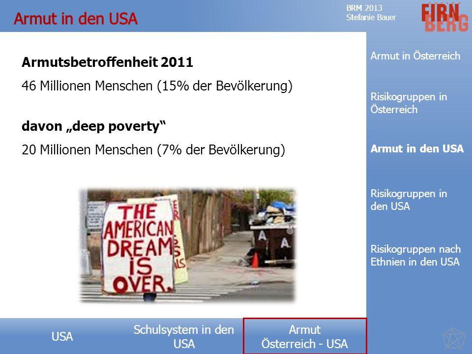 Armut in den USA Armutsbetroffenheit 2011
