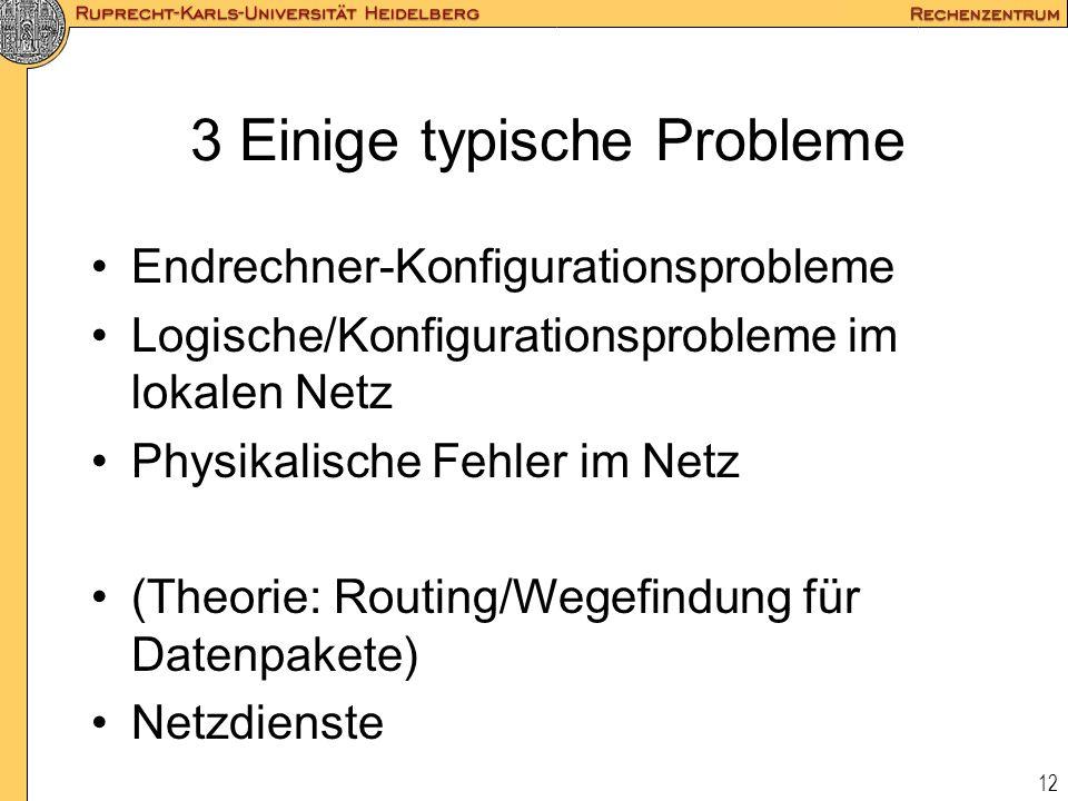 3 Einige typische Probleme