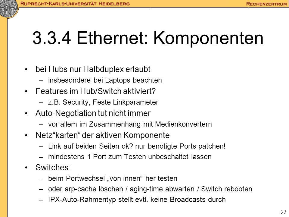 3.3.4 Ethernet: Komponenten