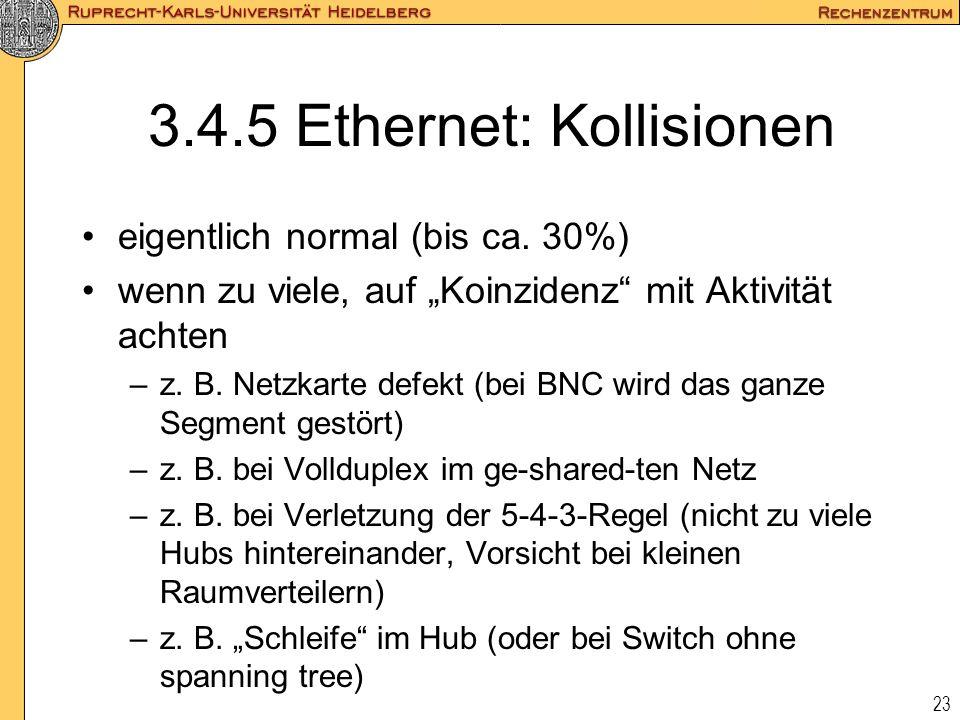 3.4.5 Ethernet: Kollisionen