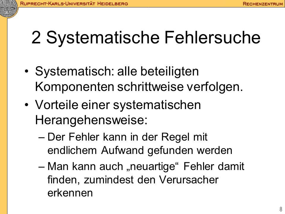 2 Systematische Fehlersuche