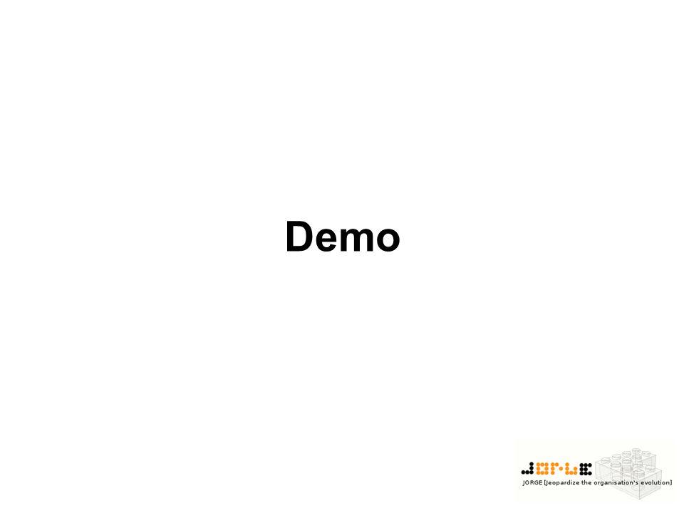 Demo JORGE starten -deaktivierte menus -> zeigen