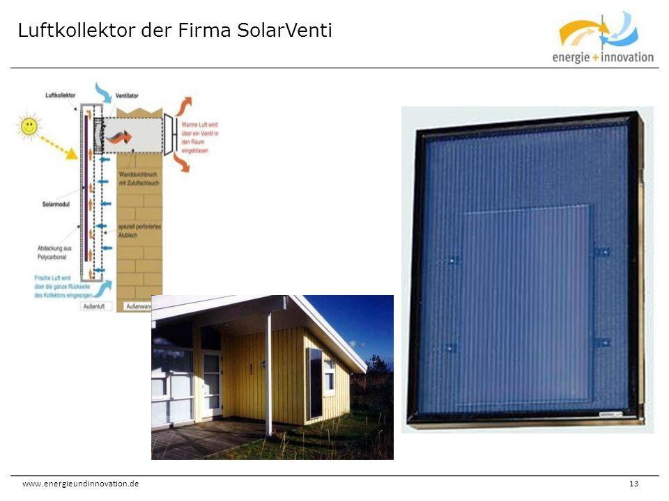 Luftkollektor der Firma SolarVenti
