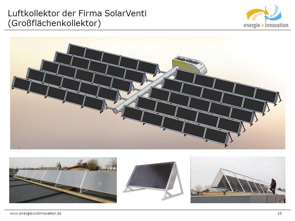 Luftkollektor der Firma SolarVenti (Großflächenkollektor)
