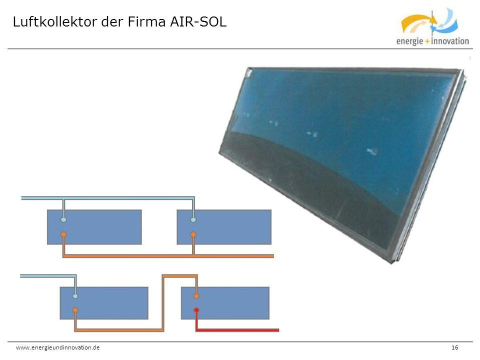 Luftkollektor der Firma AIR-SOL