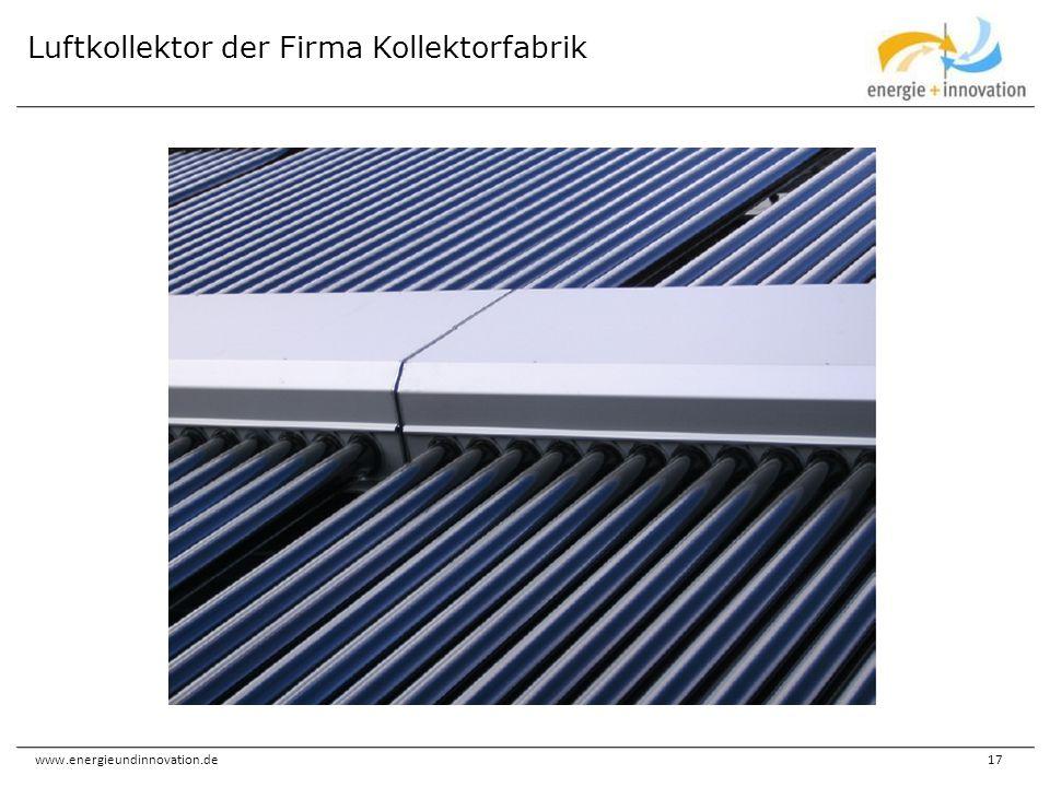 Luftkollektor der Firma Kollektorfabrik