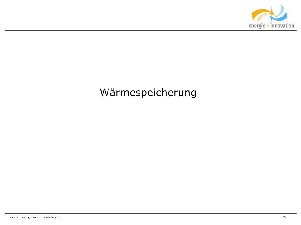 Wärmespeicherung