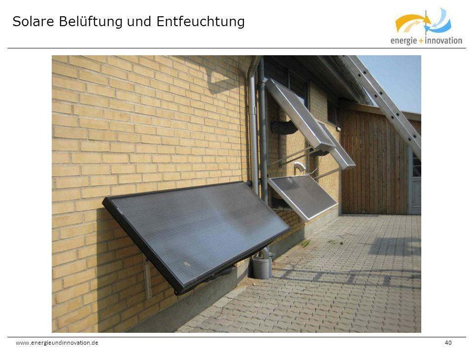 Solare Belüftung und Entfeuchtung